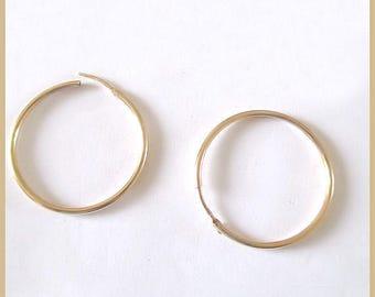 gold plated hoop rings 25mm