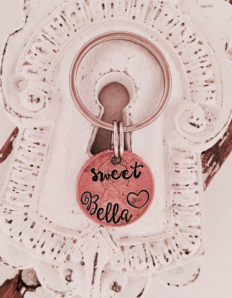 Sweet 16 keychain \u2022 new driver gift \u2022 Penny \u2022 personalized penny \u2022 Penny key ring \u2022 new driver \u2022 16th birthday \u2022