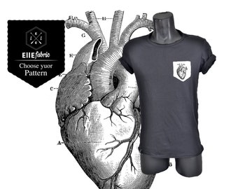 Anatomical heart T-shirt/Ellefabric