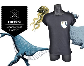 T-shirt for whales, walruses and jellyfish/ellefabric
