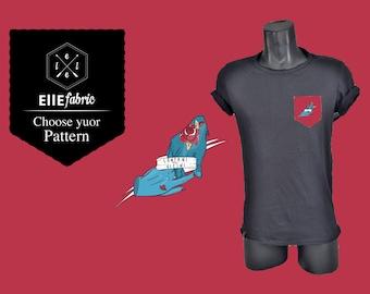 "T-shirt ""far but close"" E.S. ellefabric x Giulio Mosca"