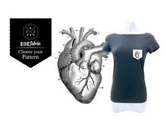 Anatomical heart T-shirt/Ellefabric