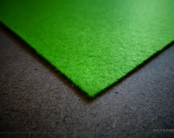 Felt square green 5x5cm ideal for your creations