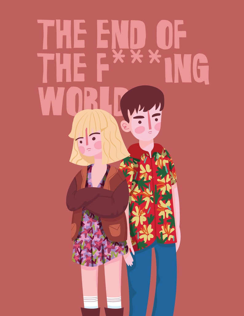The end of the FING world poster illustration wall decor image 0