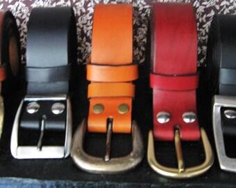 Belt wide men's leather full grain