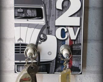 My Garage Dyane Citroen Wall Key Hook By Deco Cars Etsy