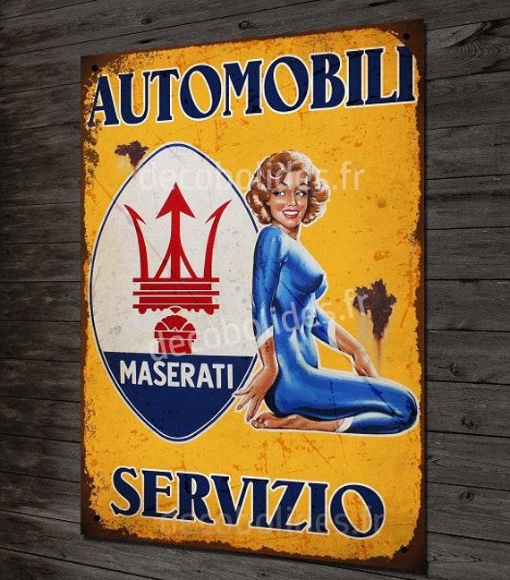 Italian Vespa  Servizio Service Metal Garage Sign Reproduction