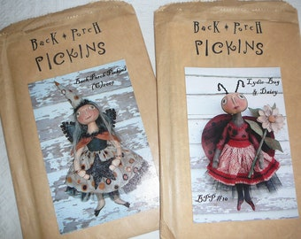 Back Porch Pickens dollmaking patterns - set of 2