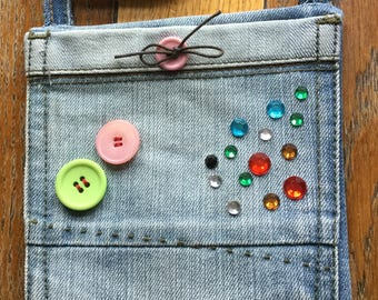 Upcycled jeans pocket small bag