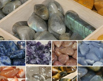 Polished Crystal Tumble stones 10 -20mm from 50p!!