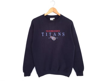 Tennessee Titans X Puma Spellout Embroidery Pullover Jumper Sweatshirt Vintage  90s 0706fd7f1