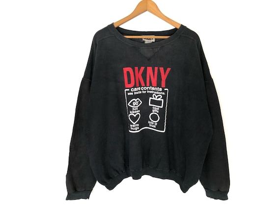 DKNY Jeans Spellout Pullover Jumper Sweatshirt Vin