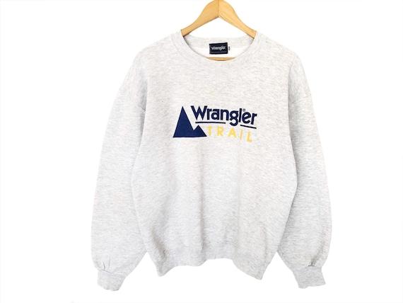 Wrangler Spellout Pullover Jumper Sweatshirt Vinta