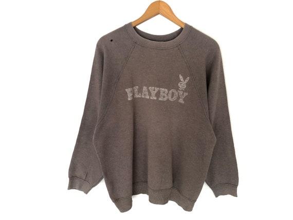 Playboy Big Logo Spellout Pullover Jumper Sweatshi
