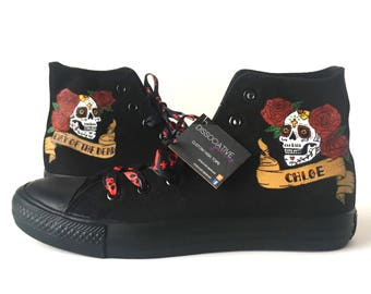 Day of the Dead High Tops (Can be personalised)
