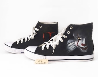 IT Custom High Tops (Logo and Pennywise)