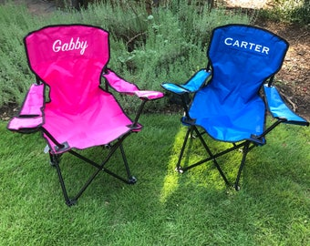 Kids Personalized Folding Chair, Kids Camping Chair, Kids Tailgate Chair,  Custom Kids Chair