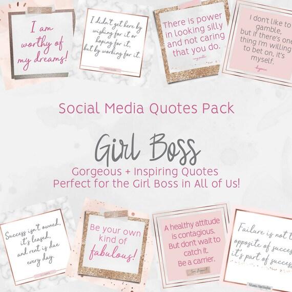 Items Similar To Social Media Quotes Pack Girl Boss Self