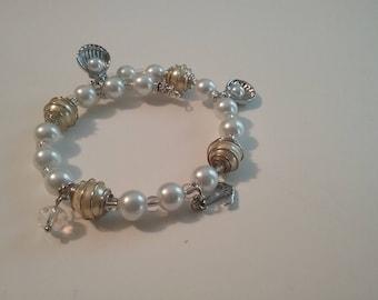 Pearl memory  charm bracelet
