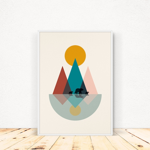 climb every mountain  A4 Print Scandinavian Style A4 Nursery print