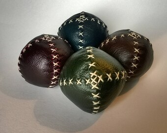 Set of 4 Handmade leather juggling balls