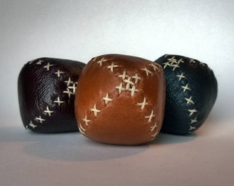 Mini / Travel Juggling Balls - Set of Three - Red, Tan and Blue