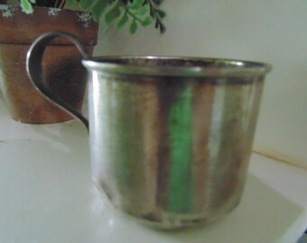 Antique sterling silver child's cup