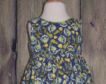 Girl's Sleeveless Scoop Back Dress, Size 5