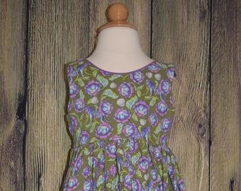 Girls Sleeveless Scoop Back Dress, Size 7