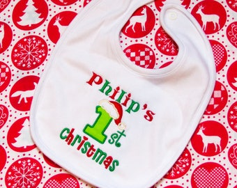 Personalised Christmas Bib, My 1st Christmas Bib, My 1st Christmas, My first Christmas Bib, First Xmas Bb