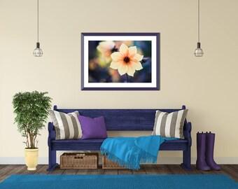 Yellow Bedroom Art, Gift Still Life, Blue Yellow Living Room Art, Yellow Still Life, Oversized Wall Art, Master Bedroom Decor, Modern Nature