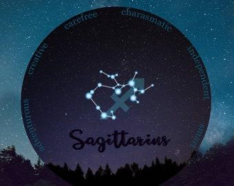 Sagittarius, November Birthday, December Birthday, Sagittarius Archer, Sagittarius Constellation, Sagittarius Birthday Gift, Gift For Her