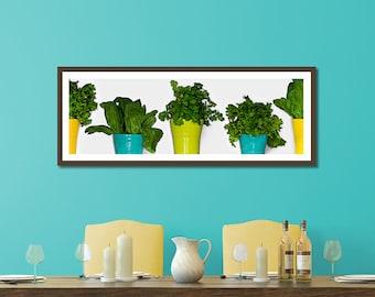 Minimalist Kitchen Art, Green Food Art, Green Vegetable Art, Food Poster, Vegetable Wall Decor, Minimalist Kitchen Decor, Food Photography