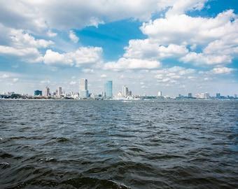 Milwaukee City Skyline Art Print, Lake Michigan, Great Lakes, Milwaukee Photography, Milwaukee Wisconsin Gifts for boater sailor