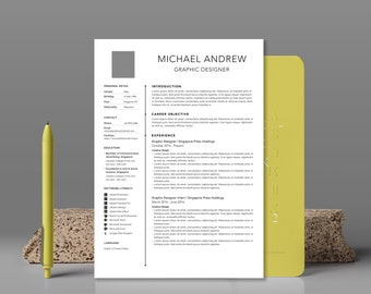 Resume Template | Modern & Professional Resume Template for Photoshop | Instant Download Resume |