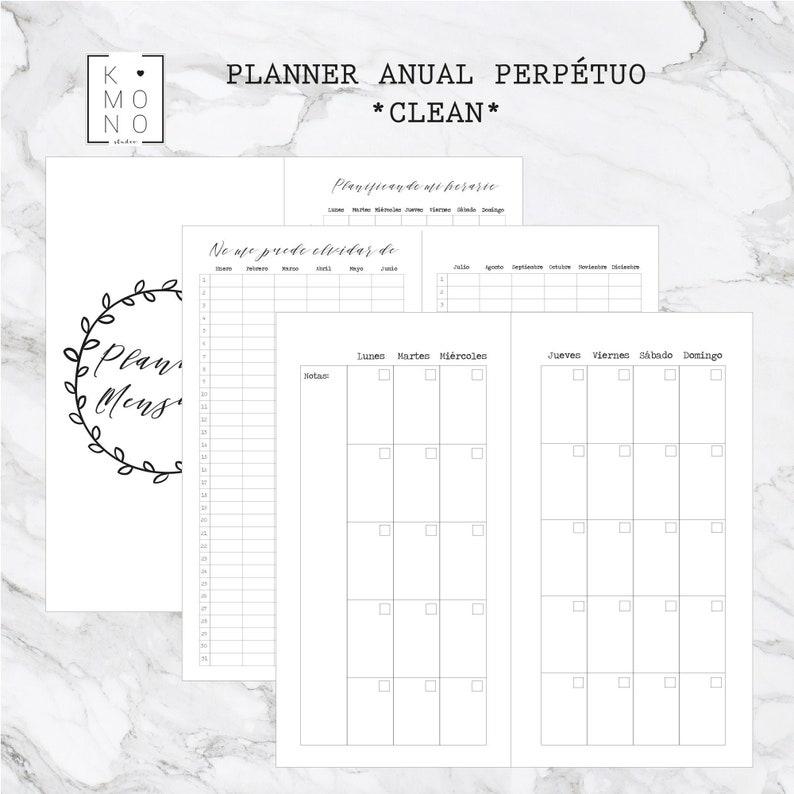 CLEAN A5  PACK Agenda mensual semanal y libretas para midori image 0