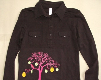 T-shirt woman love t-shirt transfer flex/vinyl Apple