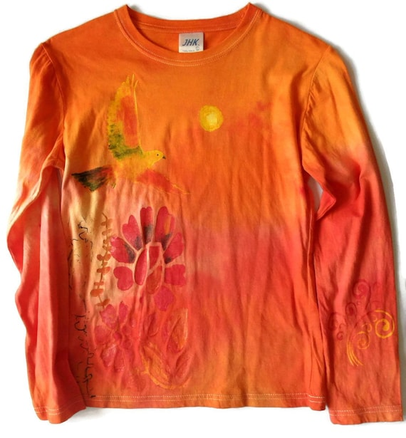 Just Another Tee Watercolour Floral Deer 3 All Good Things are Wild and Free Kids Long Sleeve Hooded top