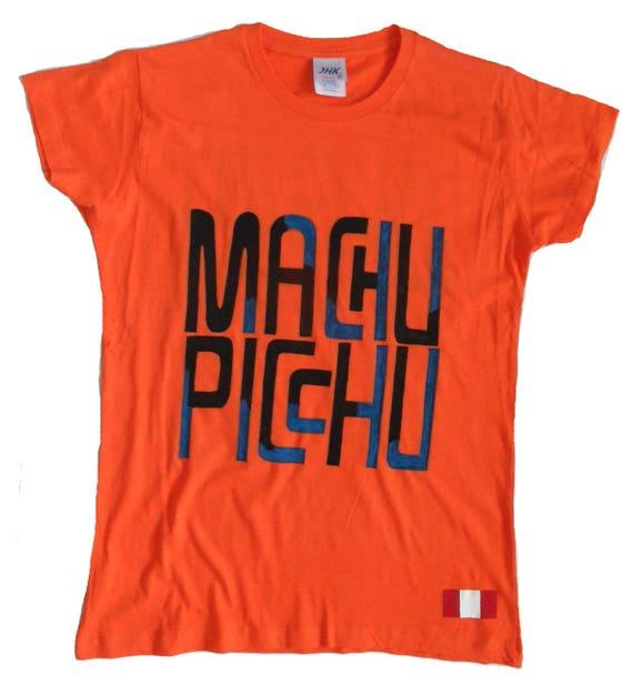 596901a24 Machu Picchu t-shirt-Peru graphic tee-shirt-Painted women | Etsy