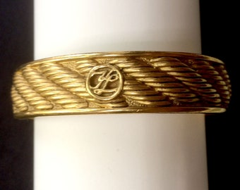 Bracelet KARL LAGERFELD signed KL in gold tone metal, true