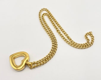 AGATHA Paris Heart pendant necklace on long chain necklace necklace