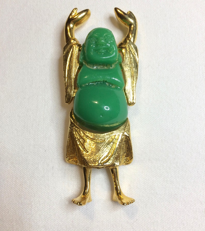 CHINESE Buddha of Luck signed dag DAVID GRAU in 2 colors to choose from