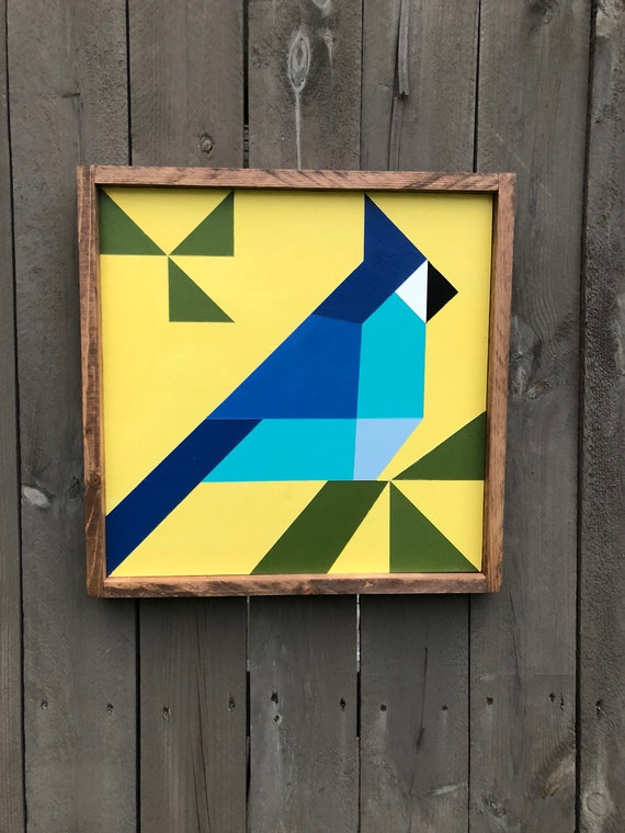 Blue Jay Mini Barn Quilt Quilt Square Etsy