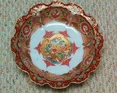 Japanese Imari Arita porcelain bowl Aoki kiln Dragon Ho-o bird design 19thC sign