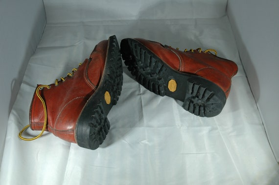 Red Wing Boots, vintage Red Wing moc toe boots, w… - image 6