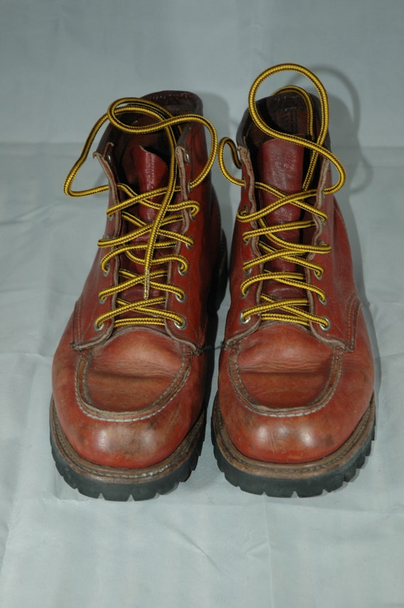 Red Wing Boots, vintage Red Wing moc toe boots, w… - image 3