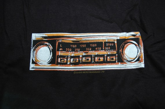 vintage OASIS promo t shirt, radio graphic, deadst