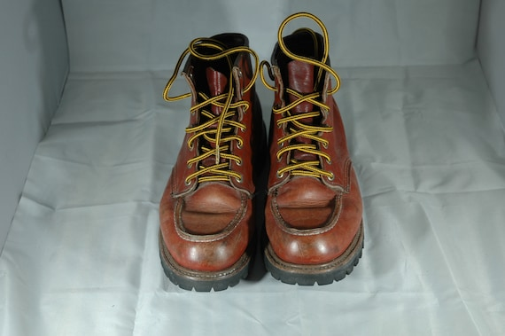 Red Wing Boots, vintage Red Wing moc toe boots, w… - image 2