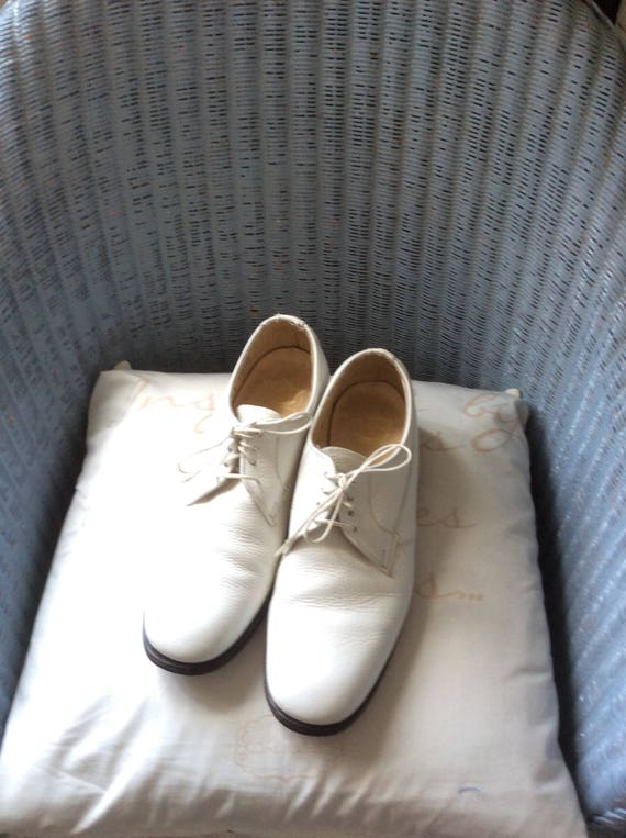 USA in oxford chaussures swing dentelle florsheim cuir des Blanc vintage danse made homme ann ups pour en 7w5OU5qdx
