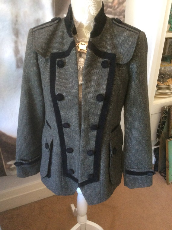 band steampunk 34 boho utility hipster steampunk japan jacket wear size chest clothing tweed work Military style festival marching wool pgOwPqgfT